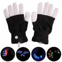 1-Pair XANES 003 15 x LEDs 7 Modes Street Dance Glowing Colorful Gloves Laser Glove