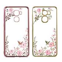 Luxury Secret Garden Flower Plating Diamond Soft TPU Silicone Case For Letv LeEco Le Pro3
