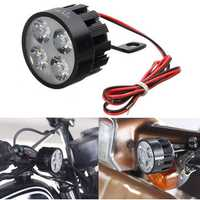 10V-85V DC 12W LED Light Motorcycle Scooter Bicycle Rear View Mirror Lamp Handlebar