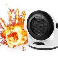 1000W Fan Heater Portable Remote Control Electric Winter Warmer Fan Desk Camping Home Heating Device
