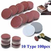100pcs 2 Inch 50mm Sander Disc 80 to 3000 Grit Sanding Polishing Pad Sandpaper