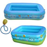 120/130/150CM Large Family Inflatable Baby Swimming Pool Kids Pool Bathing Tub Outdoor Indoor Center Water Giant With Manual Air Pump