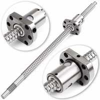 SFU1204 Ball Screw With Single Ball Nut Length 300mm For CNC Parts