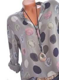 Plus Size Women Casual Polka Dot Shirts