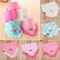Lace Baby Kids Girls Bibs Pinny Toddler Bandana Triangle Head Scarf Feeding Cleaning Cotton Cute Saliva Towel