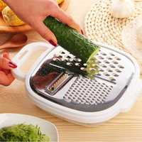 KCASA KC-MS071 Multifunction Vegetable Fruit Slicer Grater Chopper Shredder With Container Lunch Box
