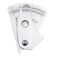 Stainless Steel Fan Shape Welding Gauge Angle Height Test Ruler Welding Inspection Gage