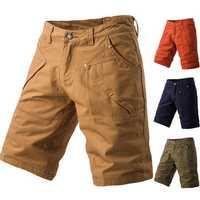 Summer Mens Casual Cargo Shorts Pants