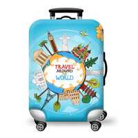 19-29 Inch Luggage Cover Elasticity Travel Camping Suitcase Protector Trolley Dust Cover