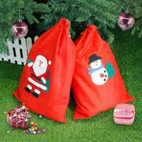 New Christmas Decoration Santa Snowman Large Sack Christmas Big Gift