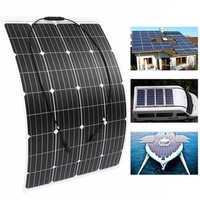120W 18V Monocrystalline Silicon Semi-flexible Solar Panel Battery Charger W/ MC4 Connector