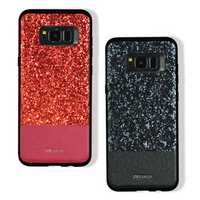 DZGOGO Diamond Bling PU Leather Protective Case for Samsung Galaxy S8