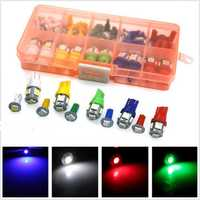 40Pcs 12V Car Motorcycle T5 T10 LED Instrument Panel Cluster Dash Lamp Mixed Bulb Lights