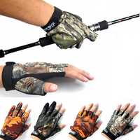 Anti Slip Outdoor Fishing Gloves 3 Fingers 5 Fingers Gloves For Men Against
