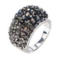 JASSY® Luxury Platinum Classic Black Diamond Engagement Ring