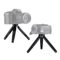 PULUZ PU3014B Pocket Mini Metal Desktop Tripod Mount for DSLR Camera 4.5-15cm Max Load 20kg