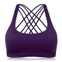 Criss-cross Wireless Padding Breathable Yoga Sports Bra
