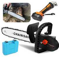2 in 1 Electric Chainsaw Angle Grinder Machine Stand Bracket Set Woodworking Cutting Tools Grinder Machine