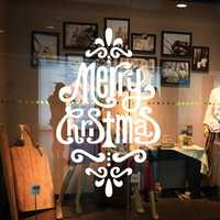 DIY Merry Christmas Decorations Gifts Window Removable Waterproof Vinyl Wall Decor Sticker PVC Glass Wall Window Decor Sticker for Home Festival Party Decorations