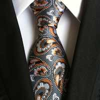 Men Business Retro Jacquard Lattice Tie Party Formal Retro Ties