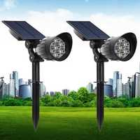 5W Solar Powered 7 LED Light-controlled Lawn Light Outdoor Waterproof Yard Wall Landscape Lamp