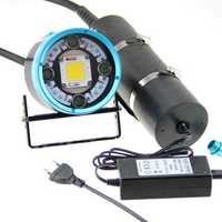 HOOZHU HV63 Underwater 180m 13x LEDs 100W 12000LM 2-group Modes High Performance Diving Light Dive Flashlight Suit with 26650 & Charger & Bracket