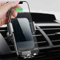 Cafele 10W Qi Wireless Fast Charge Auto Lock Touch Release Glass Surface Car Phone Holder for iPhone