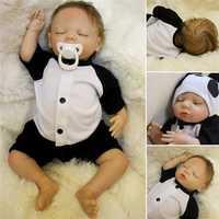 Lovely 18inch Soft Silicone Vinyl Real Life girl Boy Reborn Baby Newborn Baby Doll