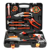 12Pcs Multifuntional Carbon Steel Household Garden Tools Set Kit Hardware Toolbox