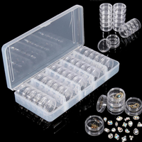 25pcs Empty Jar Box Nail Decoration Gems Rhinestone Container Tiny Electronic Parts Organizer Bottle