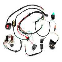 50cc 70cc 90cc 110cc Ignition Wiring Harness Kit Assembly ATV Quad Electric Start