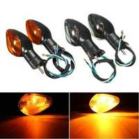 Pair Amber Turn Signal Indicator Light Smoke For Honda CBR1000RR 2008-2015