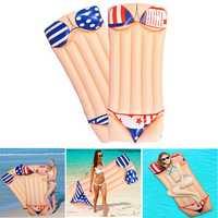 180x80cm Inflatable Air Mat Floating Lounge Water Beach Swimming Pool Bikini Row Pad Bed
