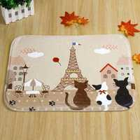 Cute Lovely Yellow Tower Kitten Home Bedroom Carpet rug Door Mats