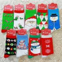 Women Ladies Cute Christmas Snowflake Snowman Deer Socks Cartoon Pattern Cotton Blend Long Sox