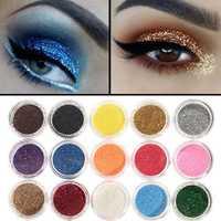 45 Colors Glitter Powder Eye Shadow Pigment Shinny Shimmer Gel Nail Art Decoration Spangle Set