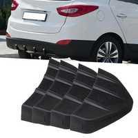 4Pcs Universal PVC Car Rear Bumper Diffuser Scratch Protector Cover Molding Trim