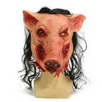 Halloween Scary Creepy Pig Animal Mask Halloween Costume Party Prop
