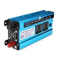 3000W LED Display Solar Power Inverter Modified Sine Wave DC 12V/24V To AC 220V Dual Screens