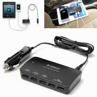 ORICO MPU-5S 5 Port Smart USB Car Charger 36W 5V/7.2A For iPhone iPad SamSung Blackberry Sony