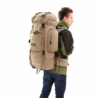 LOCAL LION Big Sport Molle Tactical Bags 85L Outdoor Waterproof Travel Backpack Military Climbing