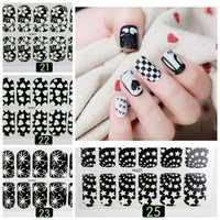 Lovely Luminous Nail Art Stickers Decals Decoration Start Flower Heart Design
