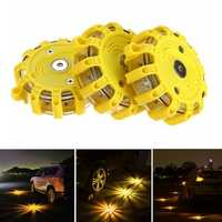 3pcs LED Road Flares Flashing Warning Light Roadside Safety Car Boat Truck Emergency