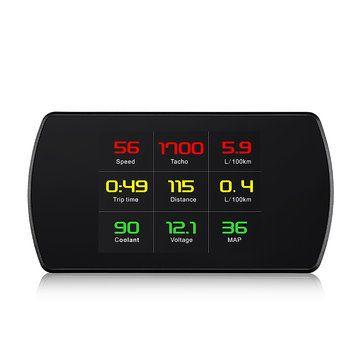 4.3 Inch P12 Car HUD Head Up Display OBO OBO2 Auto Digital Meter Speed Warning