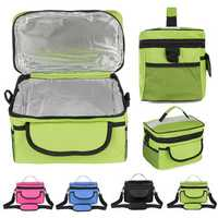 28x17x18cm Oxford Lunch Tote Cooler Backpack Insulated Picnic Bag for Camping Travel