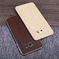 SIMW Colorful Retro Matte Anti-Scratch Wood Grain Phone Sticker Protector for Samsung Galaxy S6 Edge