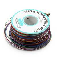200m 0.55mm 8 Color Circuit Board Single-Core Tinned Copper Electronic Wire Fly Wire Jumper Cable Dupont Wire