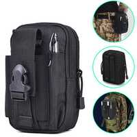600D Waterproof Nylon Tactical Waist Belt Pack Outdoor Camping Fishing Military Pouch Bag