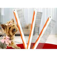 Pet Comb Professional Steel Grooming Comb Cleaning Hair Trimmer Brush Pet Dog Cat Accessories