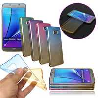 Gradient Color Thin Soft TPU Gel Case Cover For Samsung Galaxy Note 5